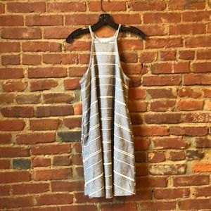 Native Youth Blue and White Stripped Dress